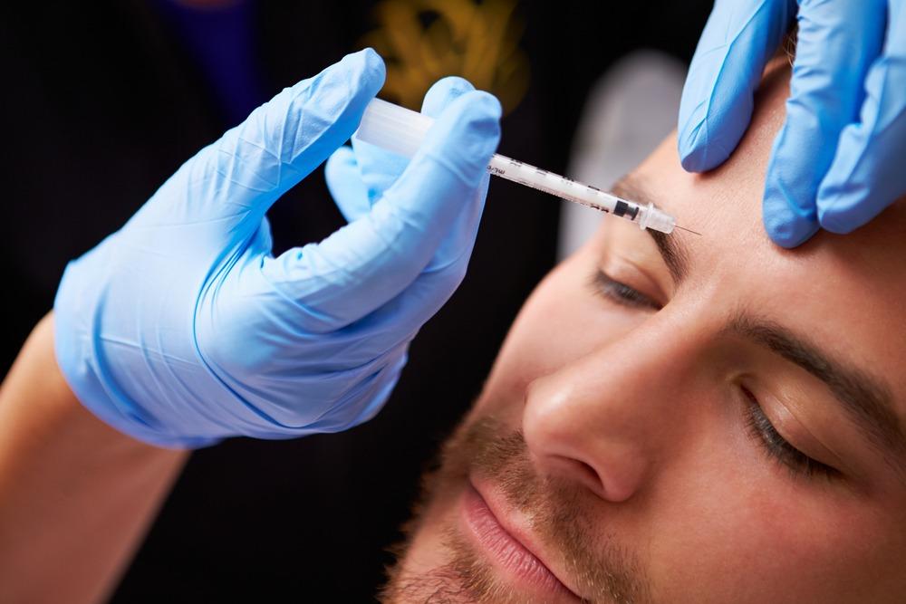 Man Having Botox Treatment At Hifu Skin Clinic