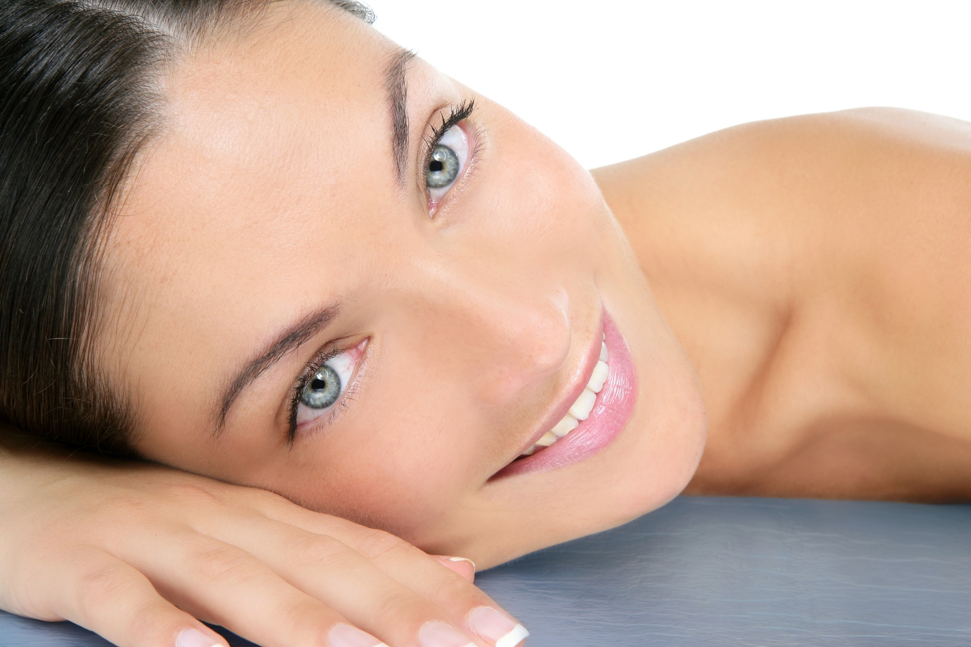 A woman is waiting for a skin treatment in our clinic in London